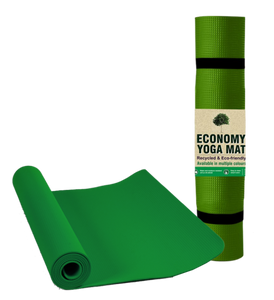Fitspree Economy Yoga Mat 4mm Green Brand Of Supreme- Made In India