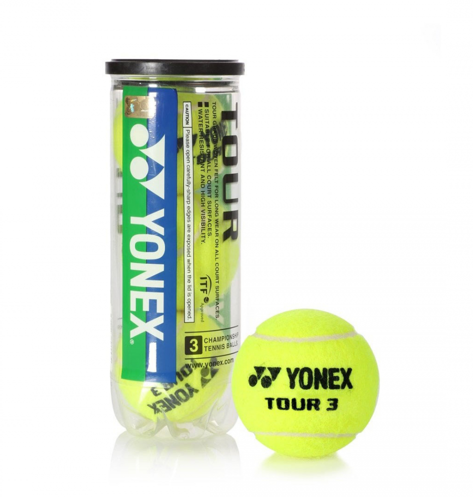 Yonex Tour Tennis Balls Carton ( 24 cans, total 72 balls)