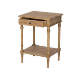 1 Drawer 1 Shelf Oak Bedside Table