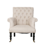 Hurley Chair Tufted French Linen Boutique French Furniture Living Room