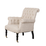 Hurley Chair Tufted French Linen Boutique French Furniture