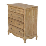Classic Furniture French Country French Provincial 5 Drawer Chest Bed Room American Oak Home Place