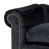 Sofa Chesterfield Kensington Black Velvet