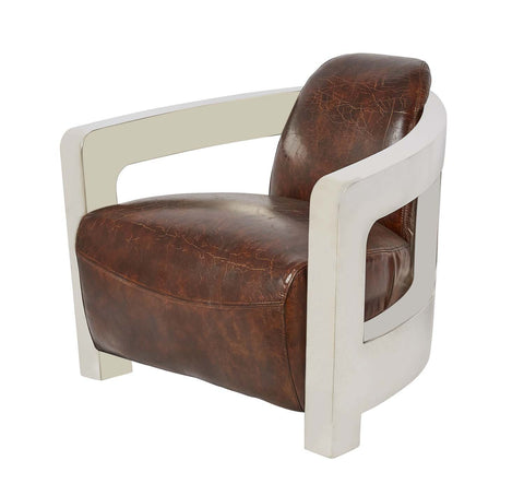 Vintage Leather Meirs Chair Distressed Leather Similar to the Timothy Oulton MK3 Mars Chair from Coco Republic