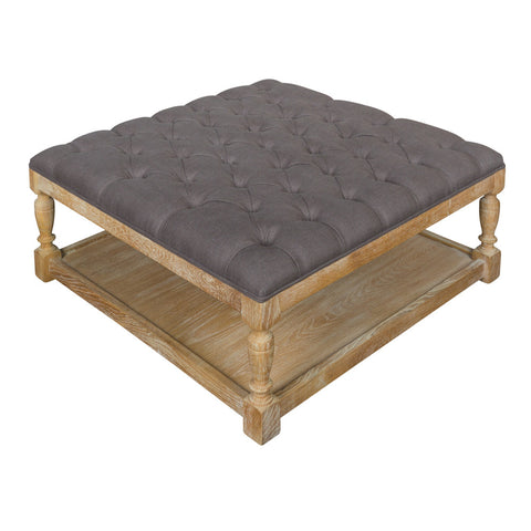Tufted Coffee Table Ottoman in Coco The Perfect Living Room Furniture