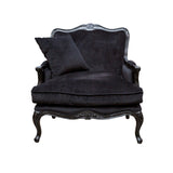 Issabelle Arm Chair & Cushion Black