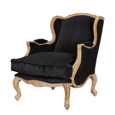 Louis XV Bergere Oak Wingback Chair