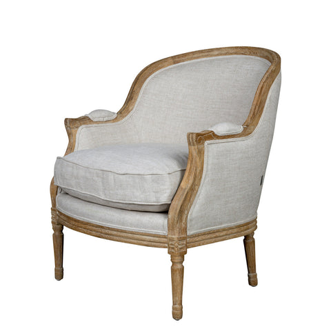 Louis XV Bergere American Oak Arm Chair & Cushion Perfect Living Room