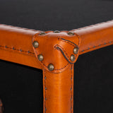 Side Table Fabric Leather