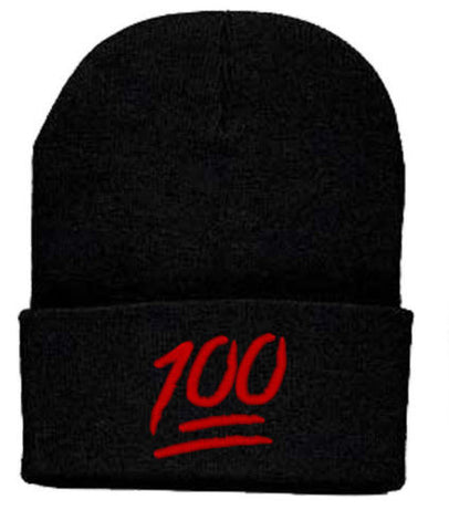Keep It 100 Emoji Beanie Hat
