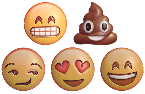All 5 Emoji Face Masks