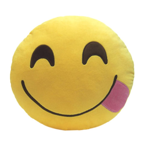 Hungry Goofy Emoji Cushion Pillow
