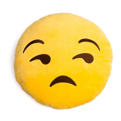 Unamused Emoji Cushion Pillow