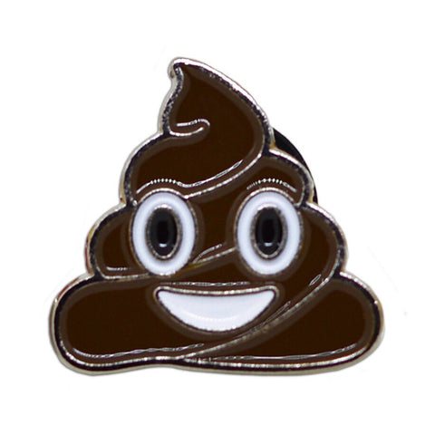 Poop Emoji Pin Badge