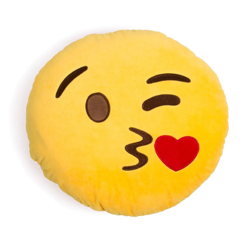 Blowing A Kiss Emoji Cushion Pillow