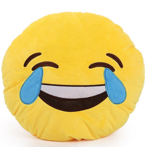 Laughing With Tears Emoji Cushion Pillow