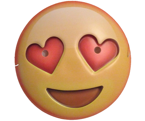 Love Heart Shaped Eyes Emoji Face Mask