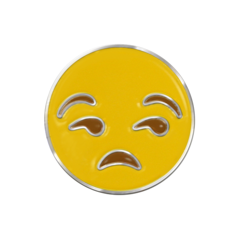 Pissed Off Emoji Pin Badge