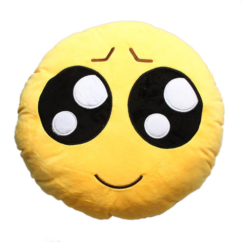Shy Innocent Emoji Cushion Pillow