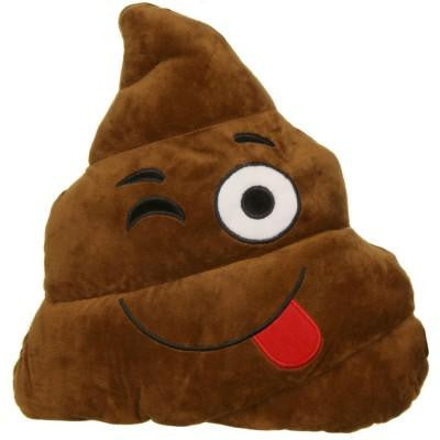 Winking Poop Emoji Cushion Pillow