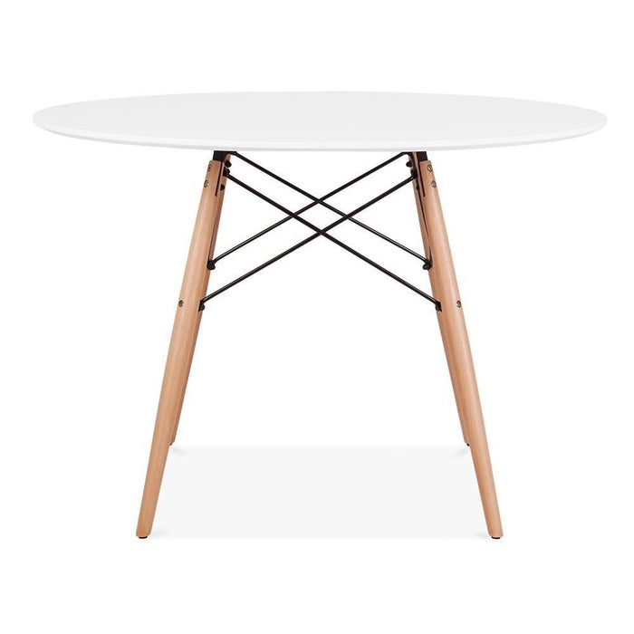 Eames Style DSW Table 80 cm (White / Natural Frame)