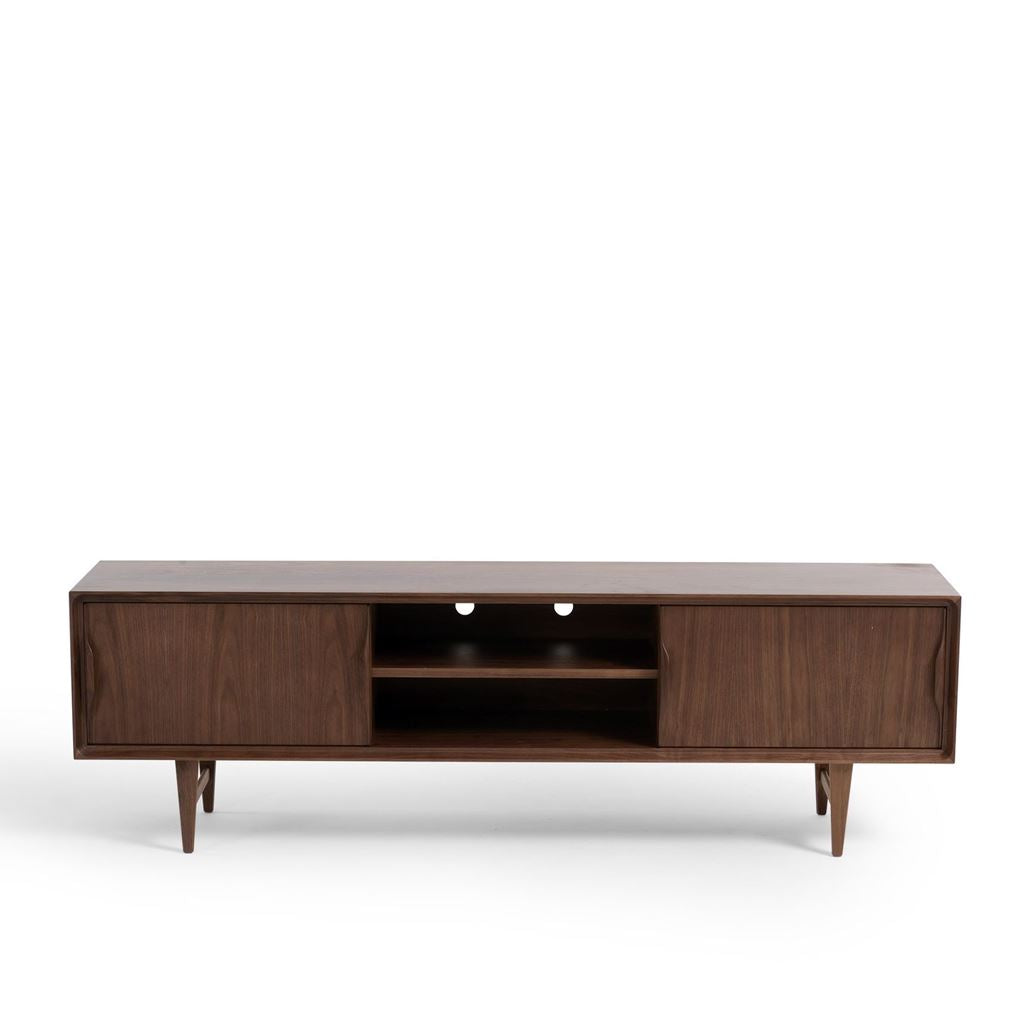 Arne Vodder Style Skandi Entertainment Unit W180cm (Walnut)