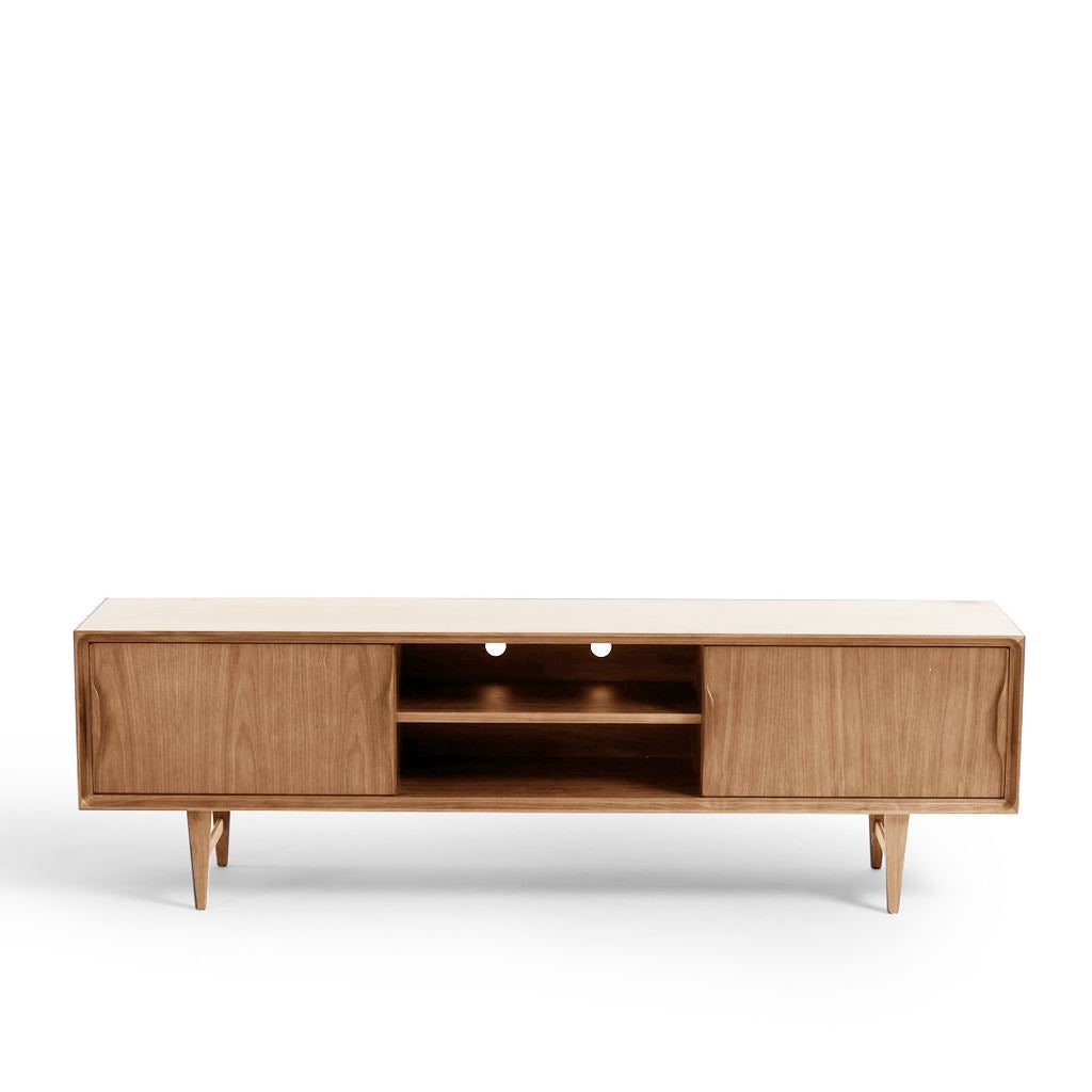 Arne Vodder Style Skandi Entertainment Unit W180cm (Oak)
