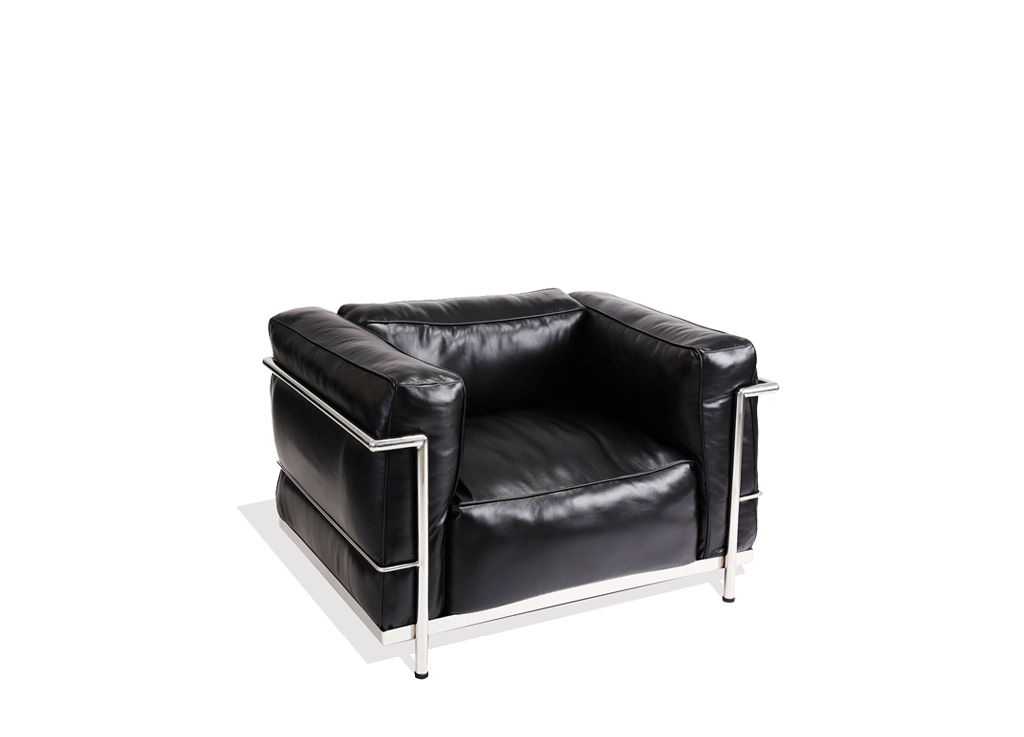 Le Corbusier Style Grand Comfort LC3 1 Seater