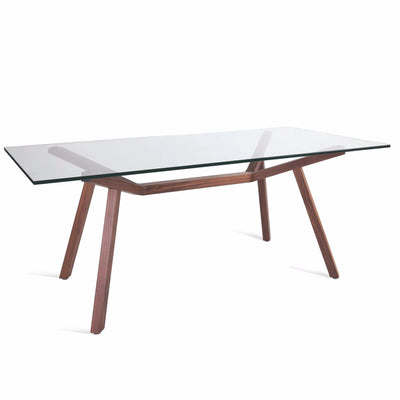 Sean Dix Style Forte Dining Table 140x85cm (Glass Top)