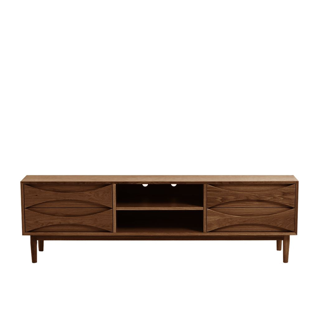 Arne Vodder Style Entertainment Unit W180 (Walnut)