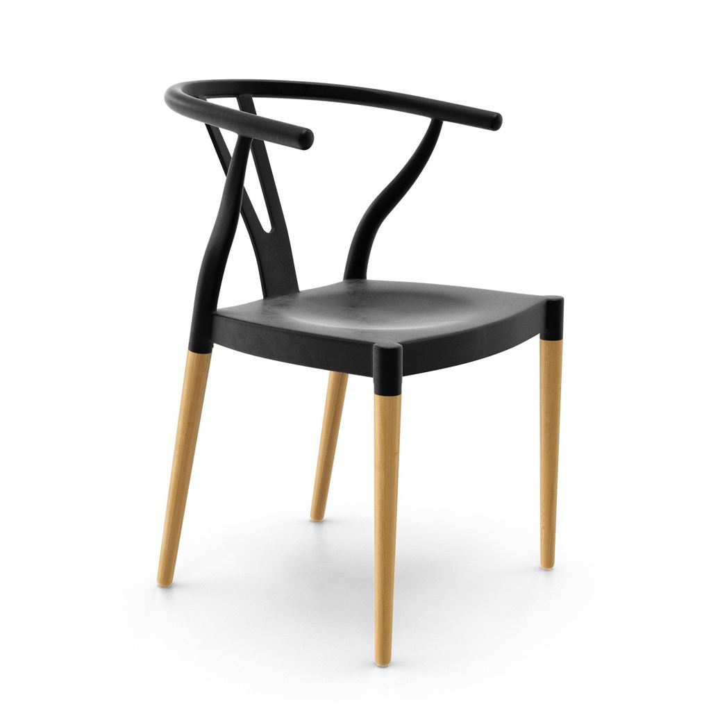 Wegner Wishbone Chair Style with Plastic