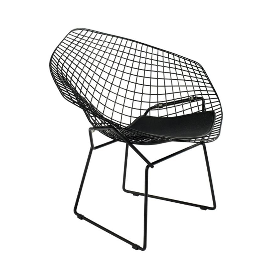 Bertoia Diamond Chair with Seat Pad - Nathan Rhodes Design