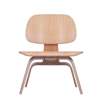 Eames Style LCW Molded Plywood Lounge Chair (Oak)