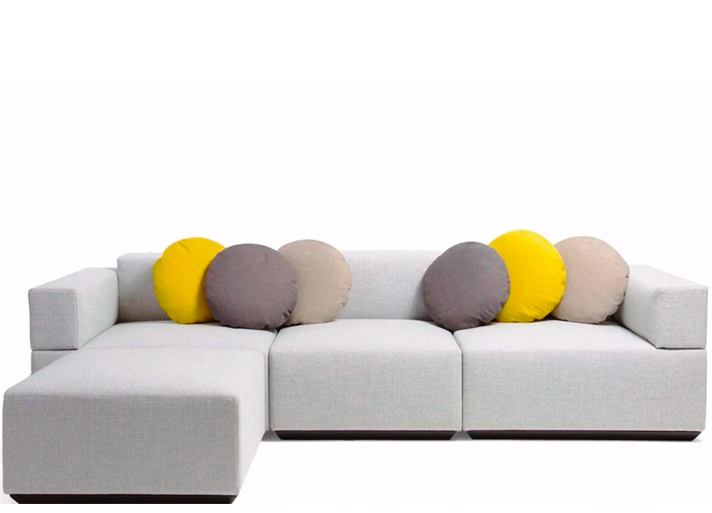 Silvia Marlia Style Scone Sectional Sofa