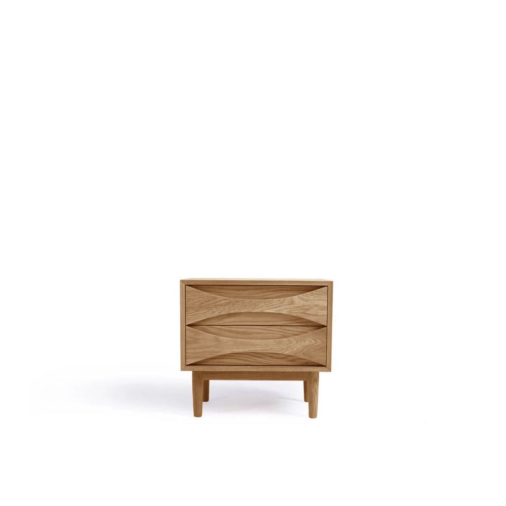 Arne Vodder Style Bed Side Table (Oak)
