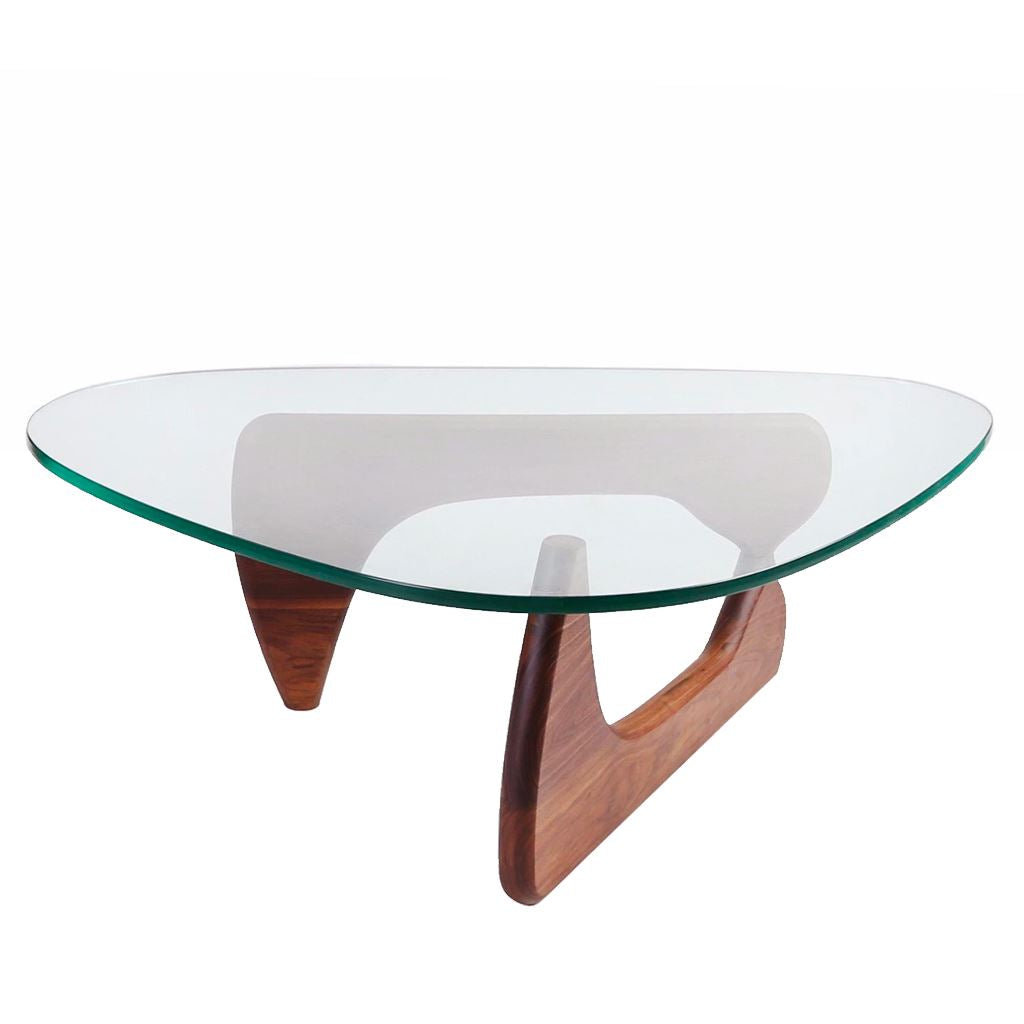 Noguchi Style Coffee Table (Glass/Solid Ash Frame)