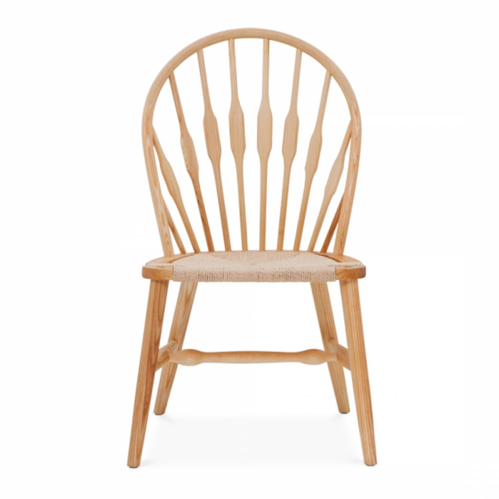 Wegner Peacock Dinning Chair Style (Natural Cord / Natural Ash Frame)