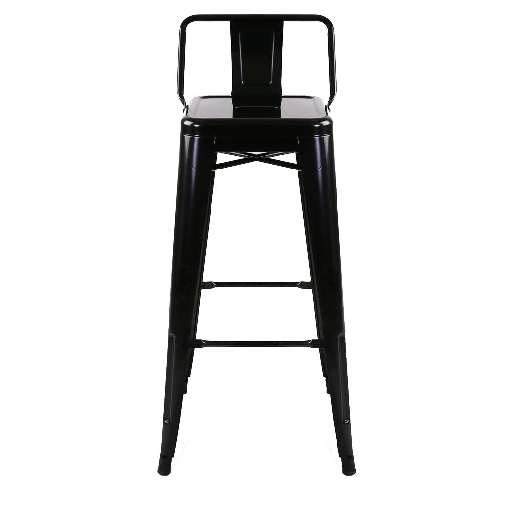 Tolix Barstool with Low Back Style (Standard Colors)