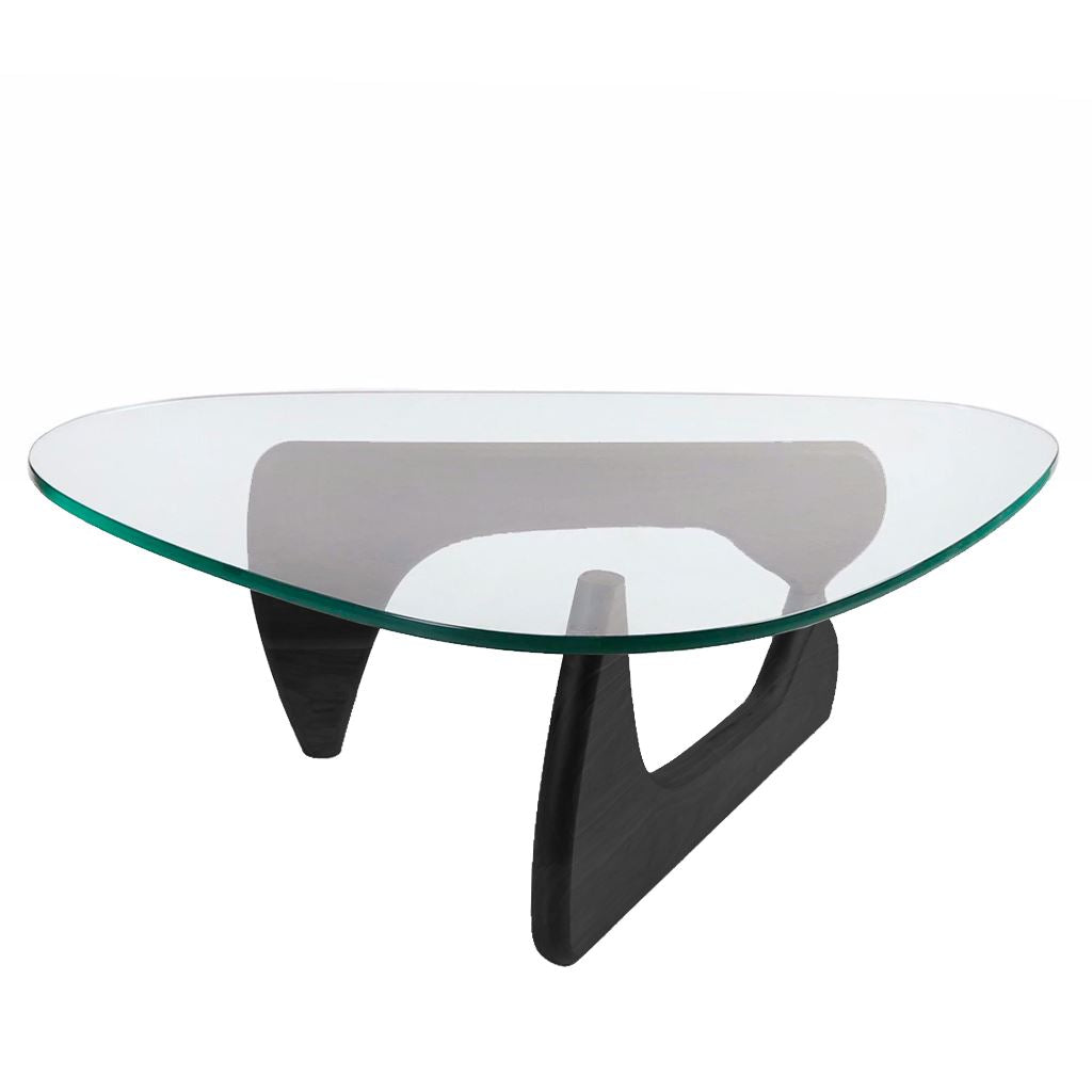 Noguchi Style Coffee Table Glass Solid Ash Frame Nathan Rhodes