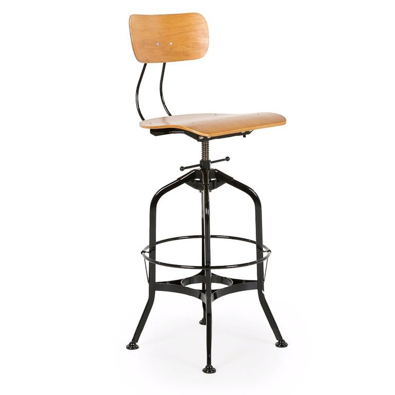 Uhl Style Toledo Vintage Drafting Stool (Black) - Nathan Rhodes Design