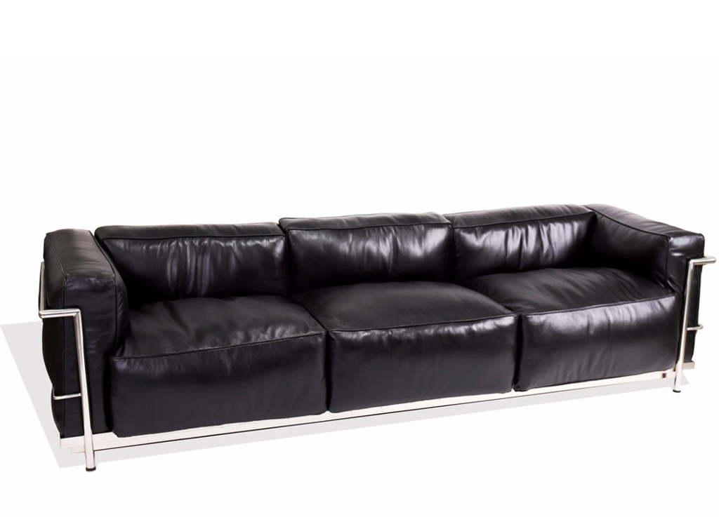 Le Corbusier Style Grand Comfort LC3 3 Seater Sofa