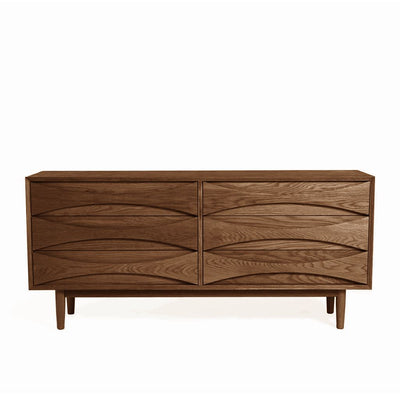 Arne Vodder Style Six Drawers Sideboard W160cm (Walnut)