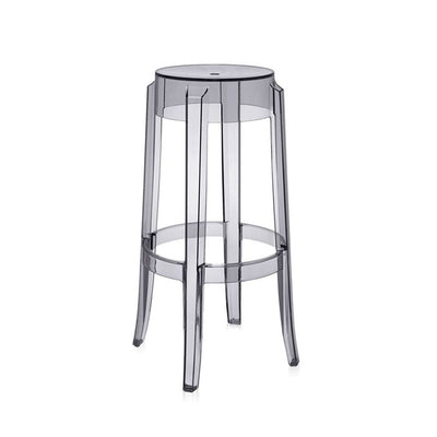 Philippe Starck Style Charles Ghost Barstool H76cm. Polycarbonate (Smoke) - Nathan Rhodes Design