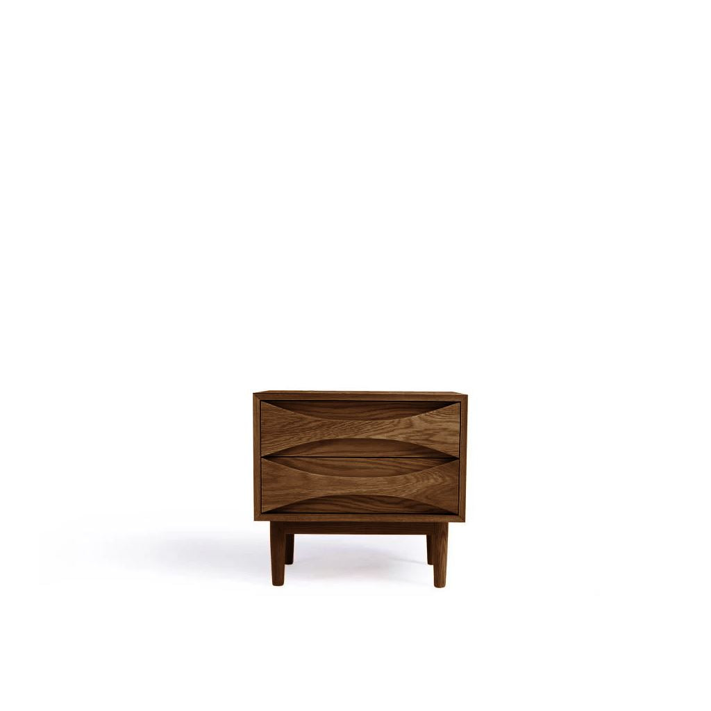 Arne Vodder Style Bed Side Table (Walnut)