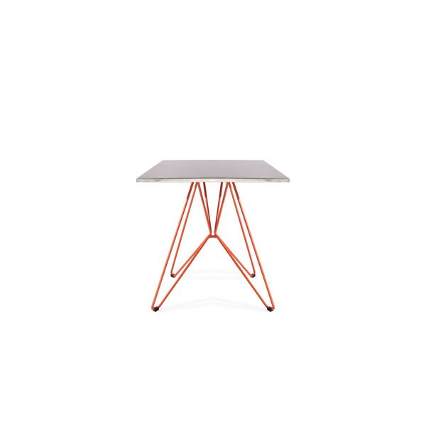Hackney Square CafeTable 80 x 80 cm ( Galvanized / Orange ) - Nathan Rhodes Design