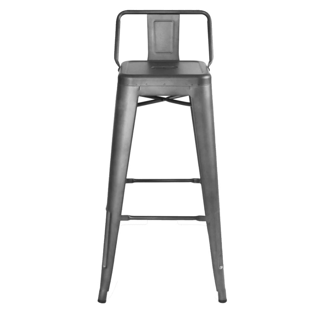 Tolix Barstool with Low Back Style (Special Colors)