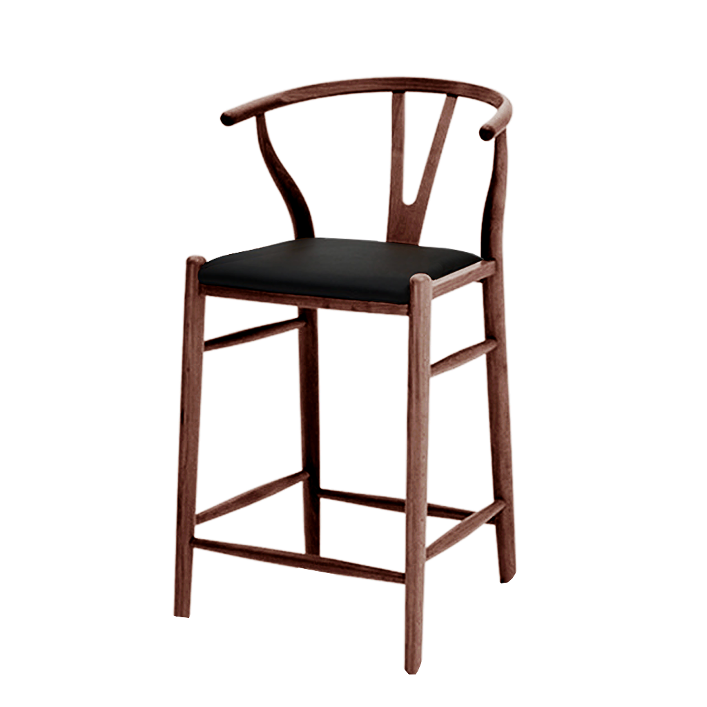 Wegner Wishbone Counter Stool Style with Padded Seat
