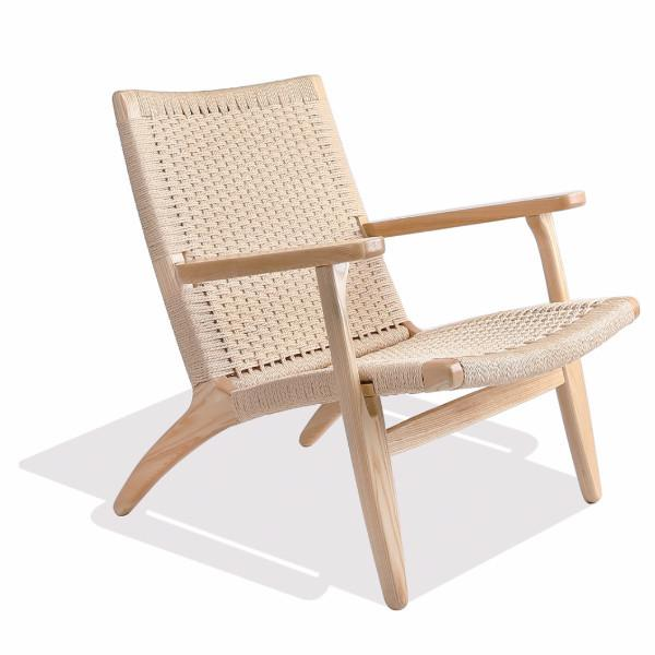Wegner Style CH25 Chair (Natural Cord / Natural Ash Frame) - Nathan Rhodes Design