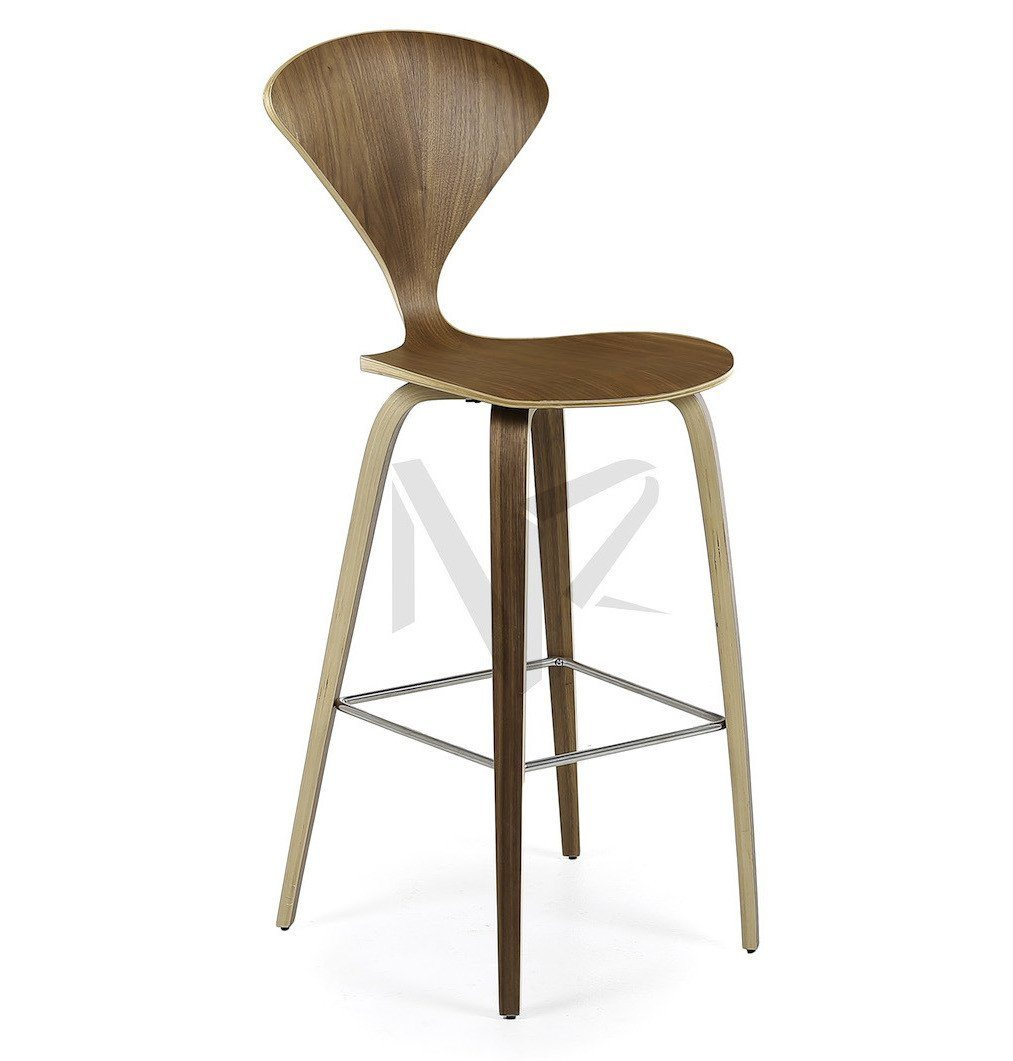Cherner Style Bar Stool (Walnut) - Nathan Rhodes Design