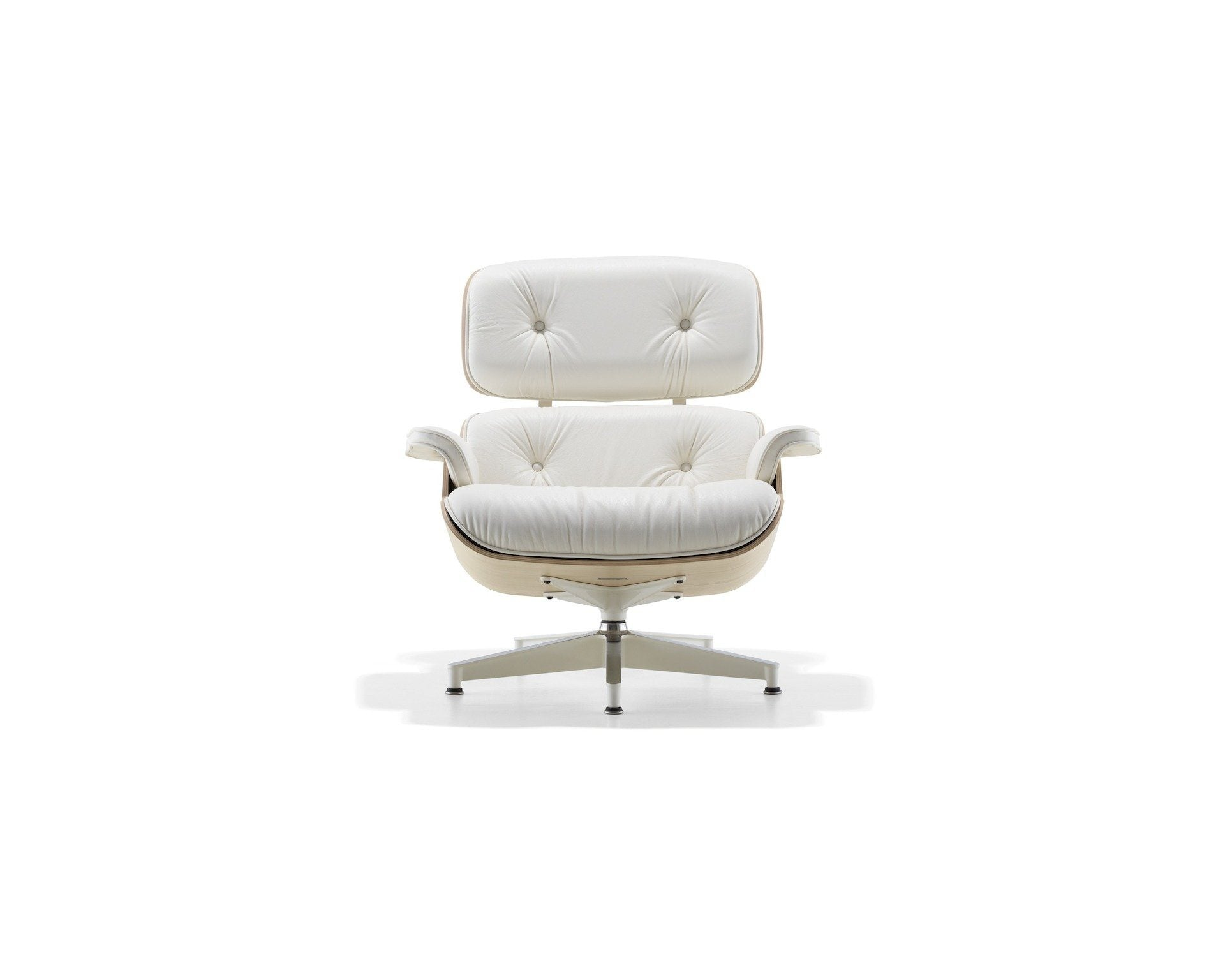 Incredible Eames Style Lounge Chair White Leather White Oak Frame Bralicious Painted Fabric Chair Ideas Braliciousco